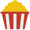 butter, corn, junk food, movie, popcorn, snack icon