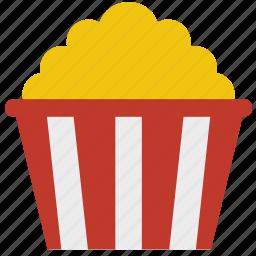 butter, corn, movie, popcorn, snack icon