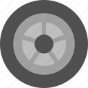 wheel, spare, tire icon