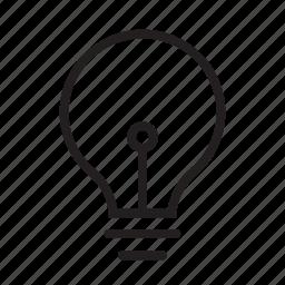 bulb, energy, idea, light, lightbulb, thought icon