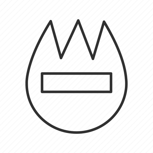 badge, fire, firecaution, flame, name badge, tulip shape name badge icon