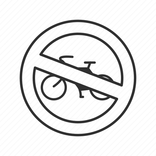 Bicycles, biking, cycling, no bicycles, no biking, no cycling icon - Download on Iconfinder