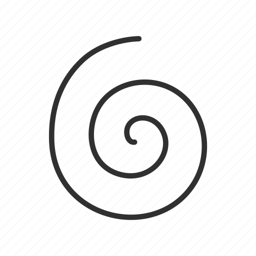 circular motion, curl, pattern, spiral, spiral curl icon