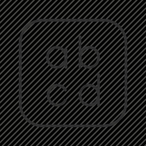abc, encode, font, font button, text, text button, type icon