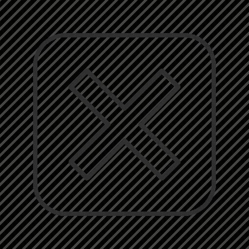 delete, error, incorrect, multiply, remove, x, x out icon
