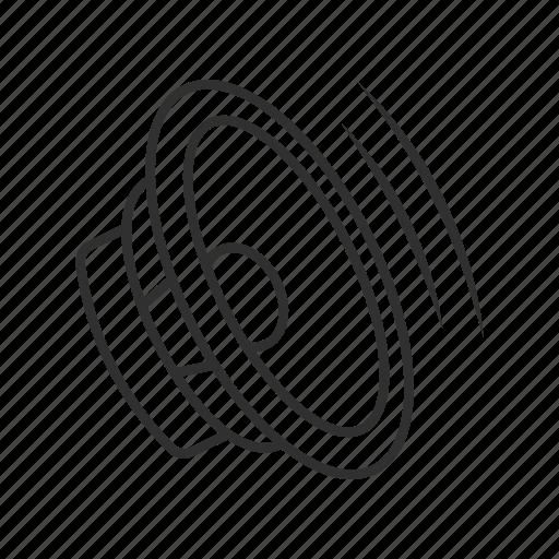 audio, multimedia, music, sound, speaker, speakers, volume icon