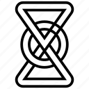 celtic knot, knot symbol, triquetra sign icon