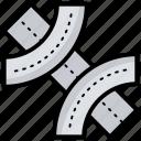 bridge, bridge sign, bridge symbol, highway sign, overpass icon