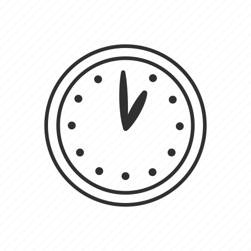 alarm, clock, clock face one o'clock, date, one o'clock, time, watch icon