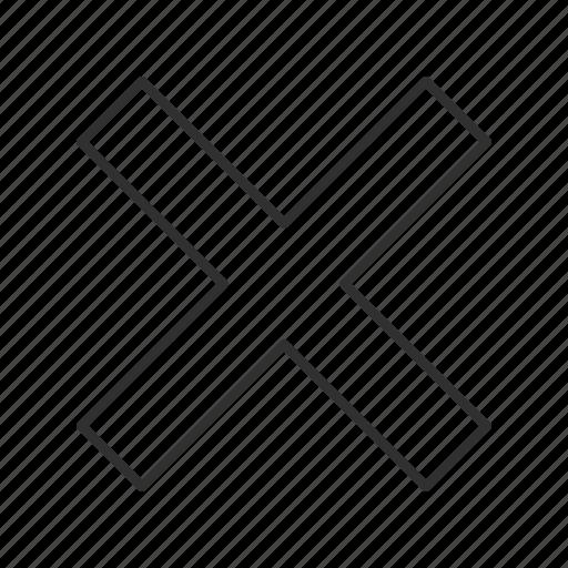 close, delete, erase, multiply, remove, trash, x icon