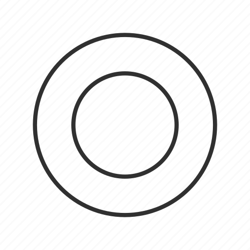 circle, circle outline, hole, record, ripple, round, stop icon
