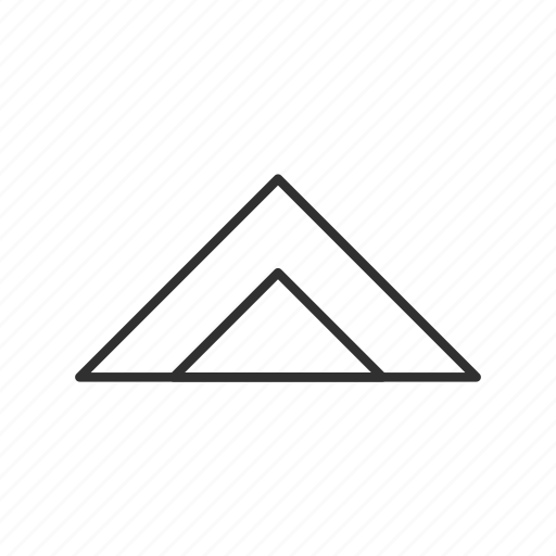 double triangle, mountain, navigation, north, triangle, up, upwards icon