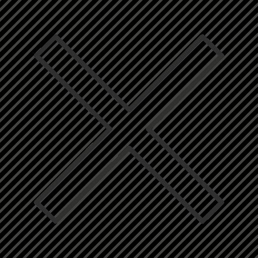 delete, erase, error, multiply, remove, trash, x icon