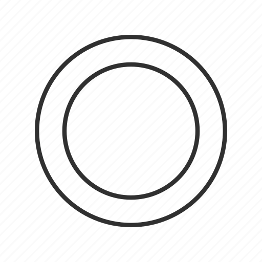 circle, circle icon, circle outline, hole, letter o, stop, zero icon