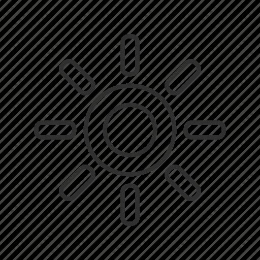 bright sun, brightness, high brightness, high light, light, sun, sun rays icon