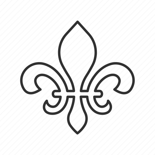 decor, decorations, design, fleur de lis, florence, flower, ornament icon