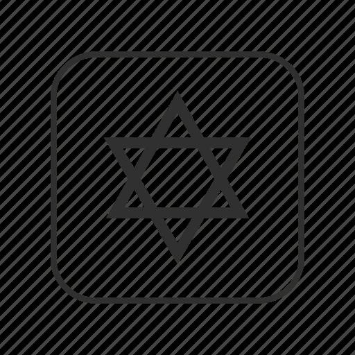israel, jewish, judaism, star, star of david, star of david emoji, triangles icon