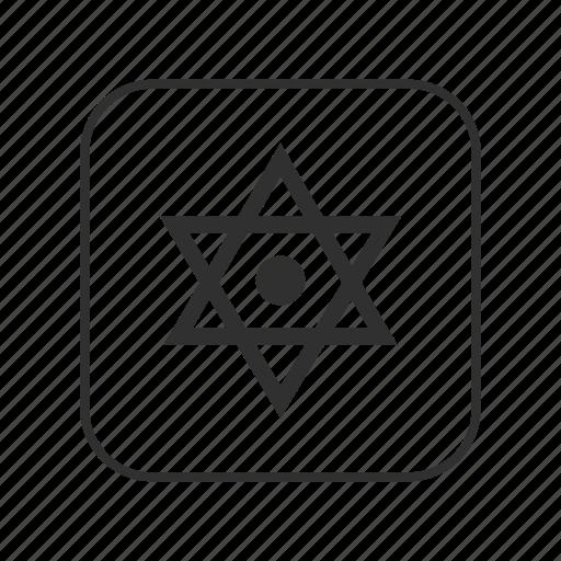 dotted six-pointed star, dotted six-pointed star emoji, israel, jewish, six pointed star, star, star of david icon