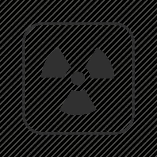 biohazard, dangerous, nuclear, radioactive, radioactive sign, warning icon