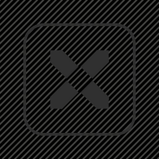 eight pointed black star, orange star, orange star emoji, star, star button, x, x button icon