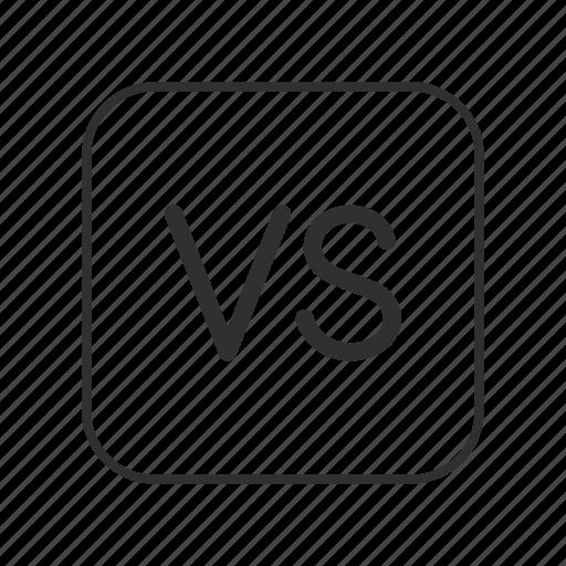 fight, game, versus, versus button, video game, vs, vs button icon