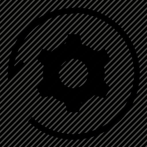 refresh, settings, sync icon