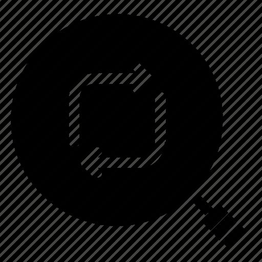 find, refresh, search, sync icon