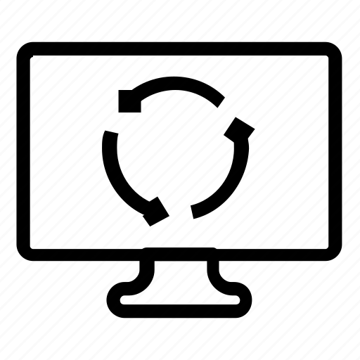 computer, monitor, refresh, sync icon
