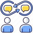 interpersonal relationship, interpersonal relationship icon, discussion, interaction