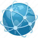 connection, destination, earth, global, globe, network, travel icon