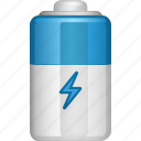 battery, battery power, electric, energy icon