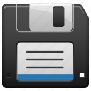 diskette, floppy, floppy disk, save, system icon
