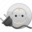 electric, electricity, outlet, plug icon