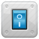 button, light switch, off, on icon