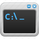 coding, command window, programming, system, window icon