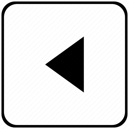 back, border, last, rounded, square icon