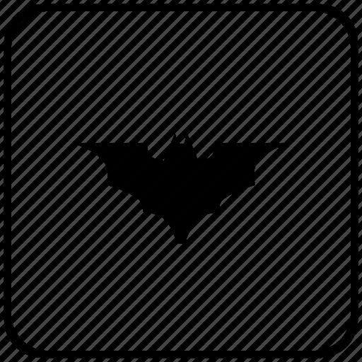 bat, batman, border, rounded, square, vampire icon