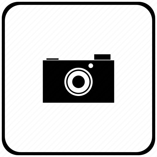 border, camera, digital, photo, rounded, square icon