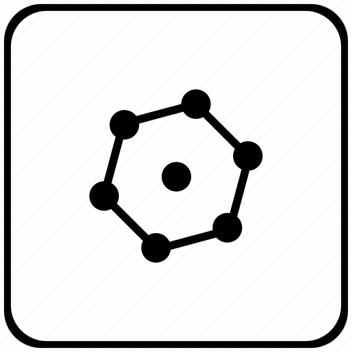 border, complex, figure, geometry, rounded, square icon