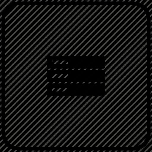 border, database, rounded, server, square, storage icon
