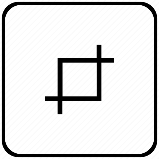 border, crop, edit, rounded, square, tool icon