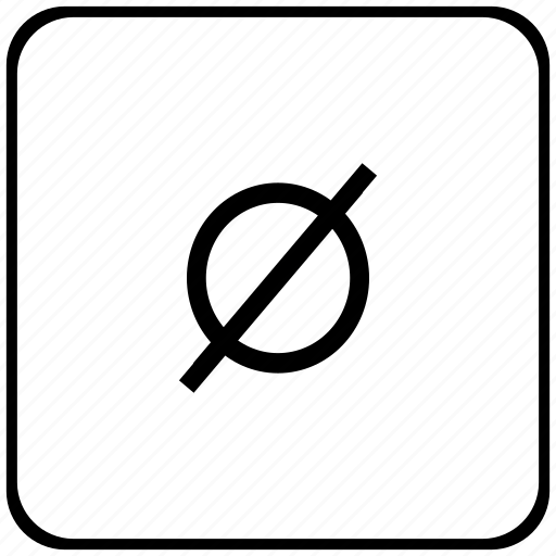 border, empty, mathematics, rounded, set, square icon