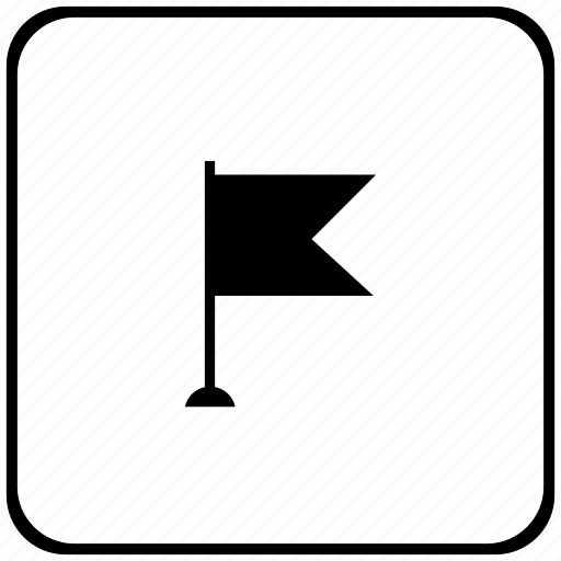 border, flag, point, pointer, rounded, square icon
