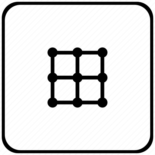 border, grid, image, rounded, square, transform icon