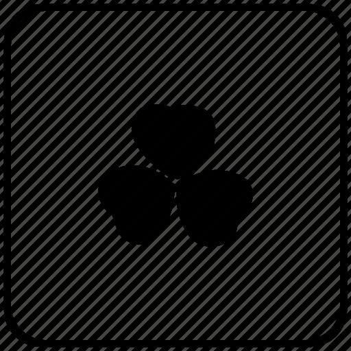 border, ireland, leaf, nature, rounded, square icon
