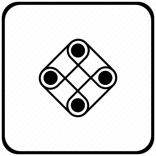 border, game, logic, play, rounded, square icon