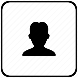 body, border, man, person, rounded, square icon