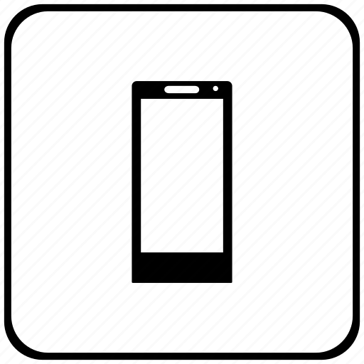 border, mobile, phone, rounded, square icon
