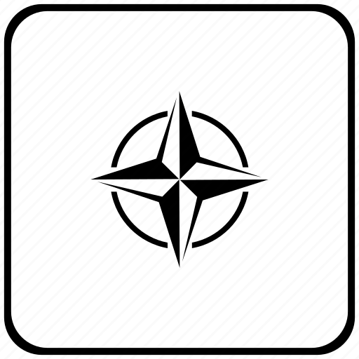alliance, border, nato, rounded, square icon