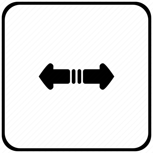 border, horizontal, rounded, scroll, square icon